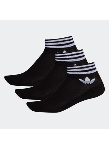 adidas Adidas 276883 3'Lü Trefoil Ankle Unisex Bilek Çorap Siyah